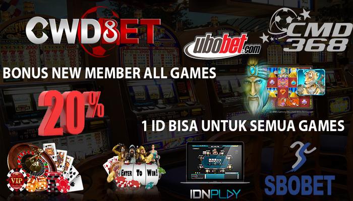 Agen Judi Online Bonus New Member 20 Dari Cwdbet